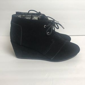 Toms black booties size 8.5